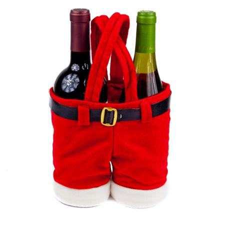 the santa pants wine bottle holder is the hottest christmas gift bag for 2012 this adorable wine tote bag is santa clauss pants and suspenders - Wine Christmas Gifts