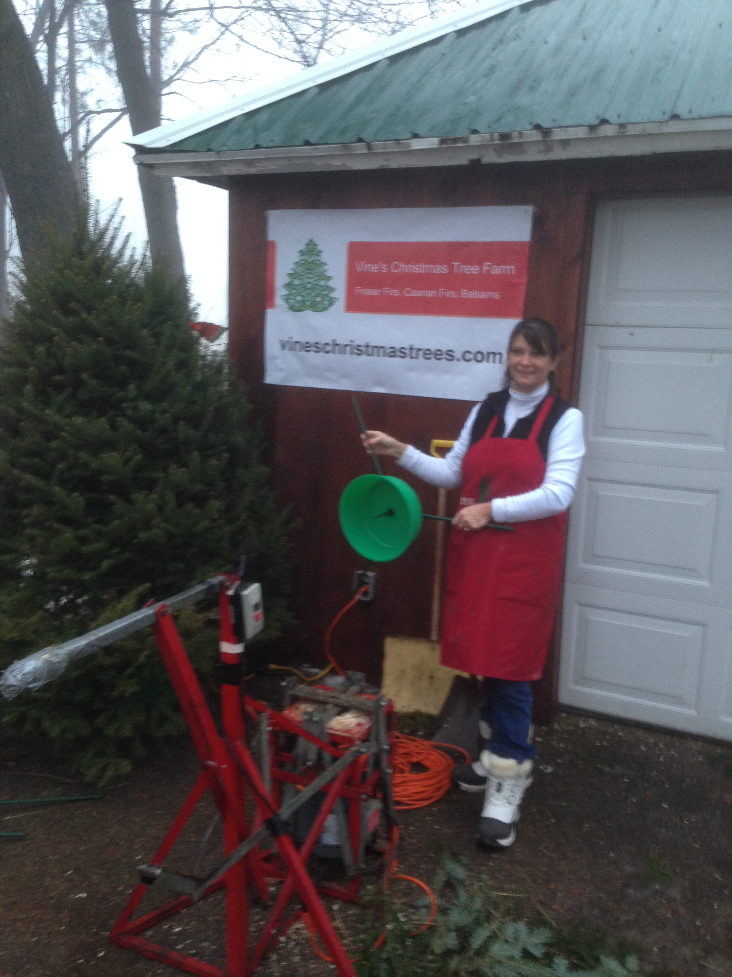 Marriage Saver Tree Stand & Tree Drilling at Vine's Christmas Trees ...