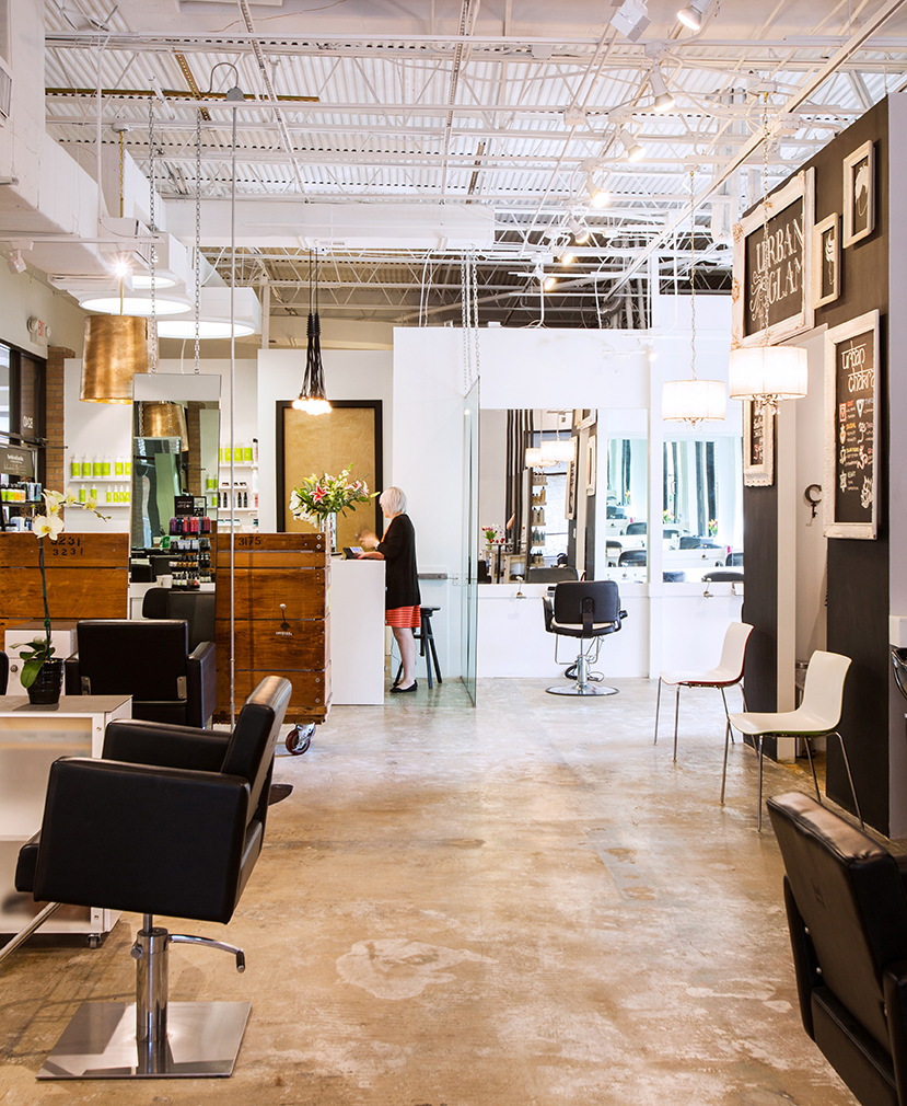 Blue mambo salon unveils a new earthy chic vibe and for Salon chic