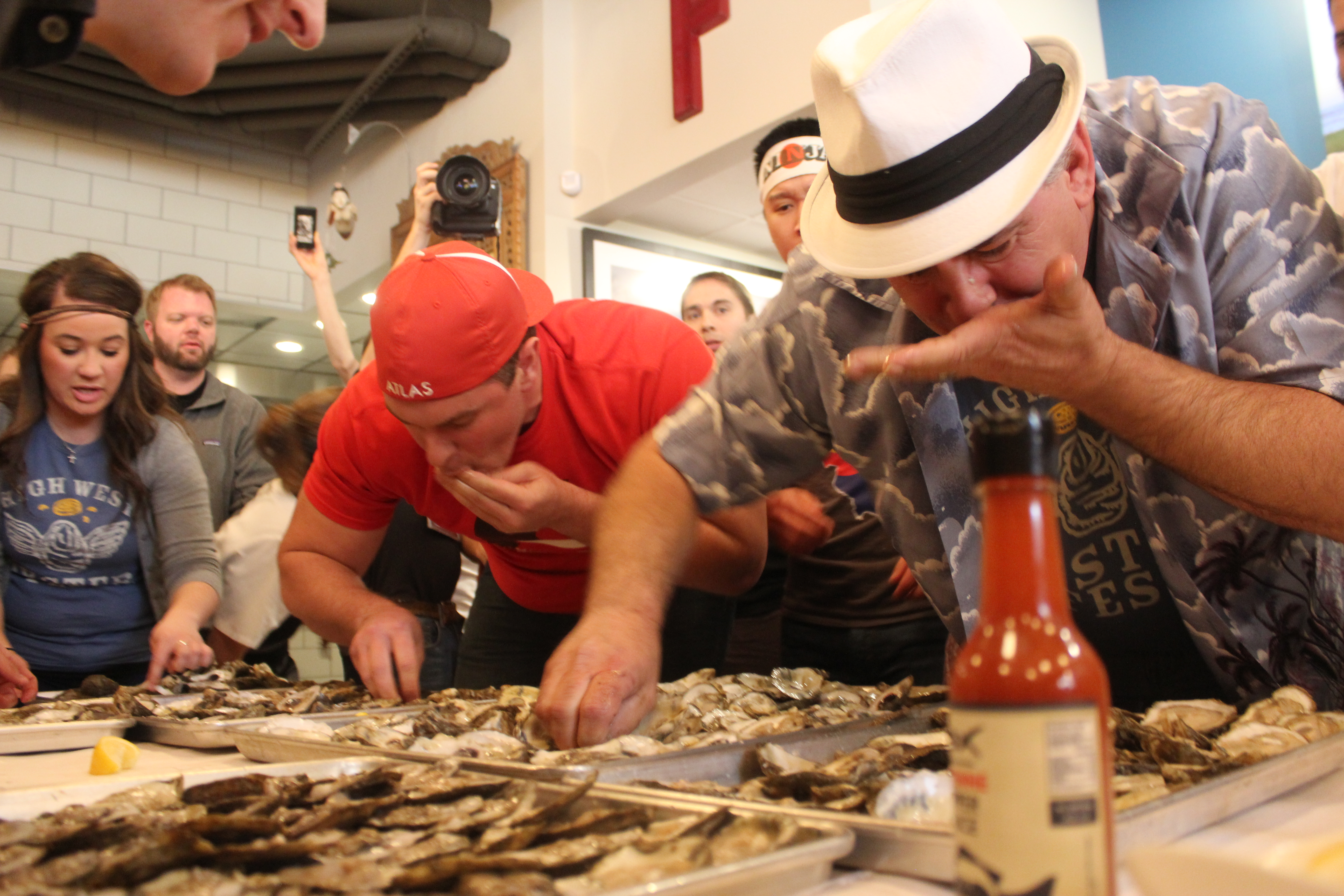 Slurping oysters will win one lucky team 1 at the second