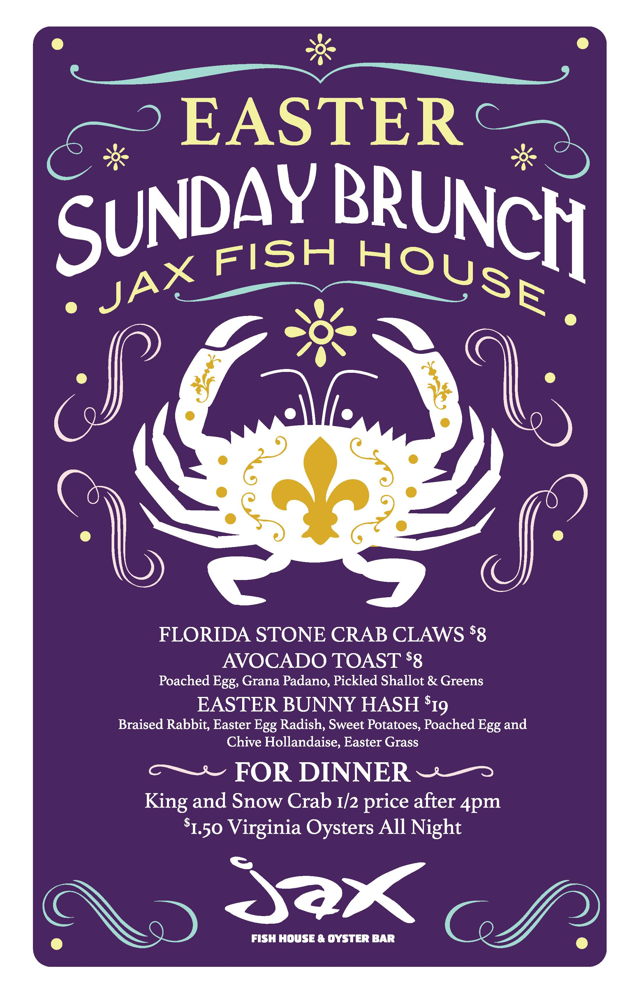 Jax fish house creates custom easter dishes for brunch on for Jax fish house kansas city