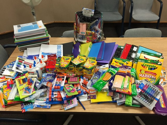 Community donates school supplies at Smith's: County 10™