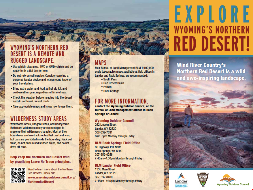 Badlands Wyoming Map.Explore Wind River Country S Northern Red Desert With New Map