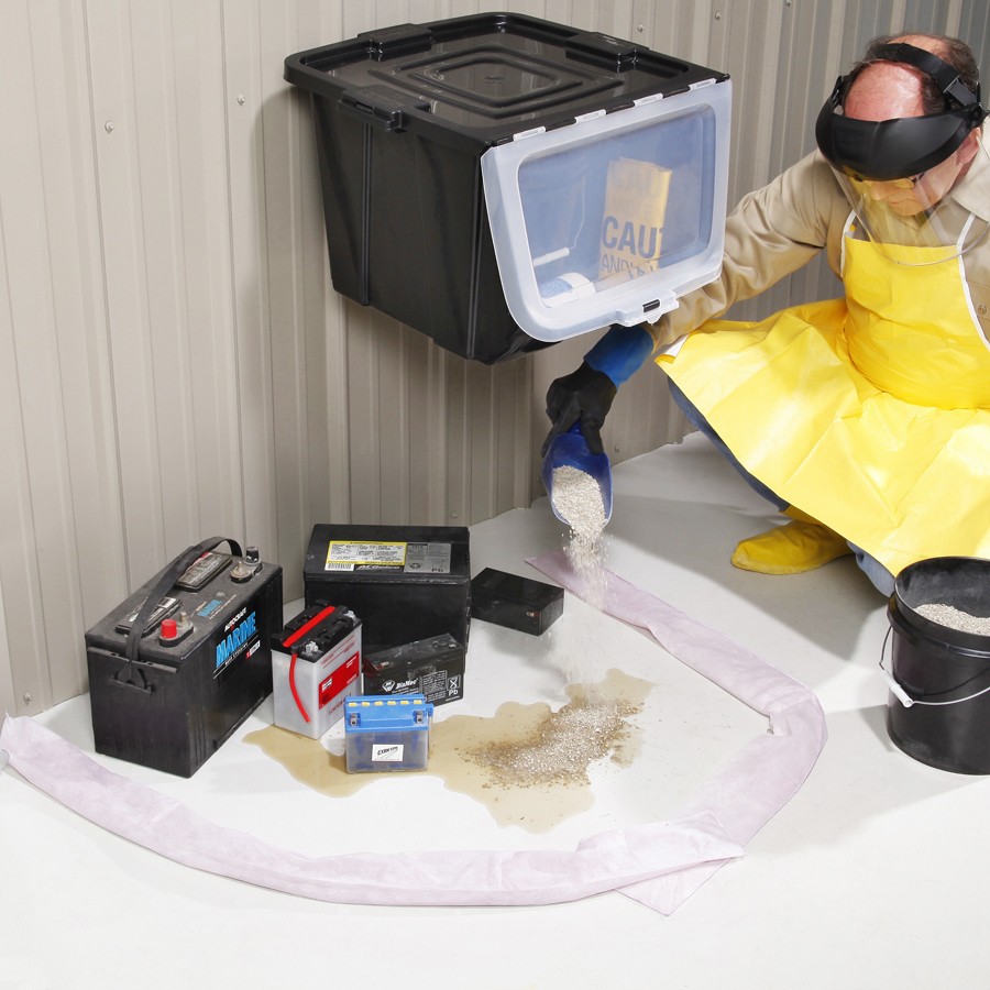Spill Kit Neutralizes And Cleans Up Battery Acid Spills