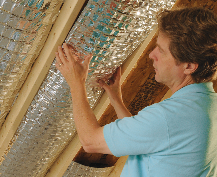 Curb energy cost with radiant barrier reflective attic foil