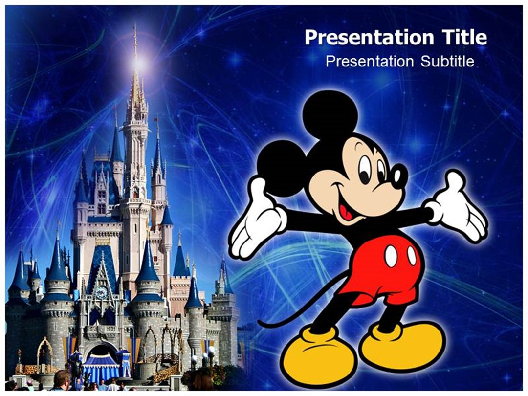 creating an amazing mickey mouse powerpoint template, Powerpoint