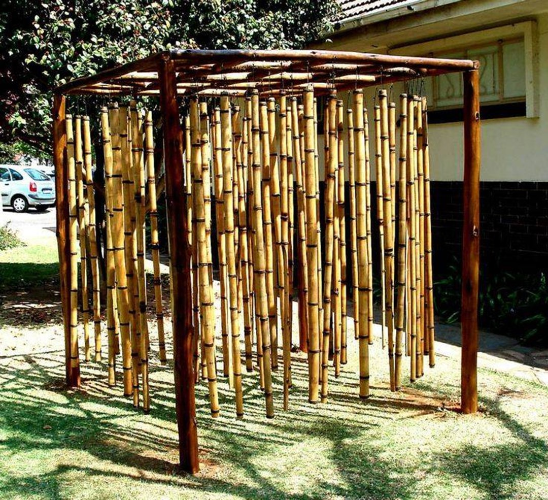 Bamboo Boundary Wall Design : Sunset bamboo offers highest quality poles for sale