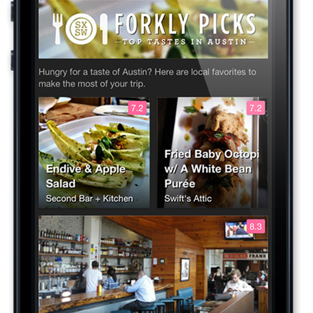 Hungry at Austin's SXSW? There's an (Forkly) App for that