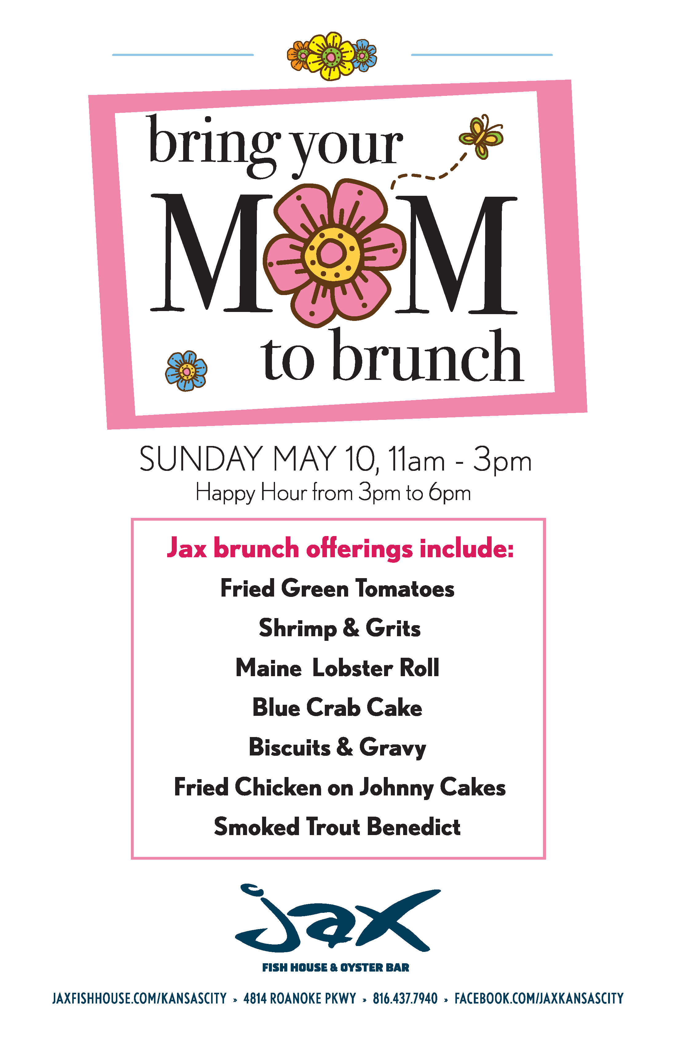 Inaugural mother s day brunch at jax fish house oyster for Jax fish house menu