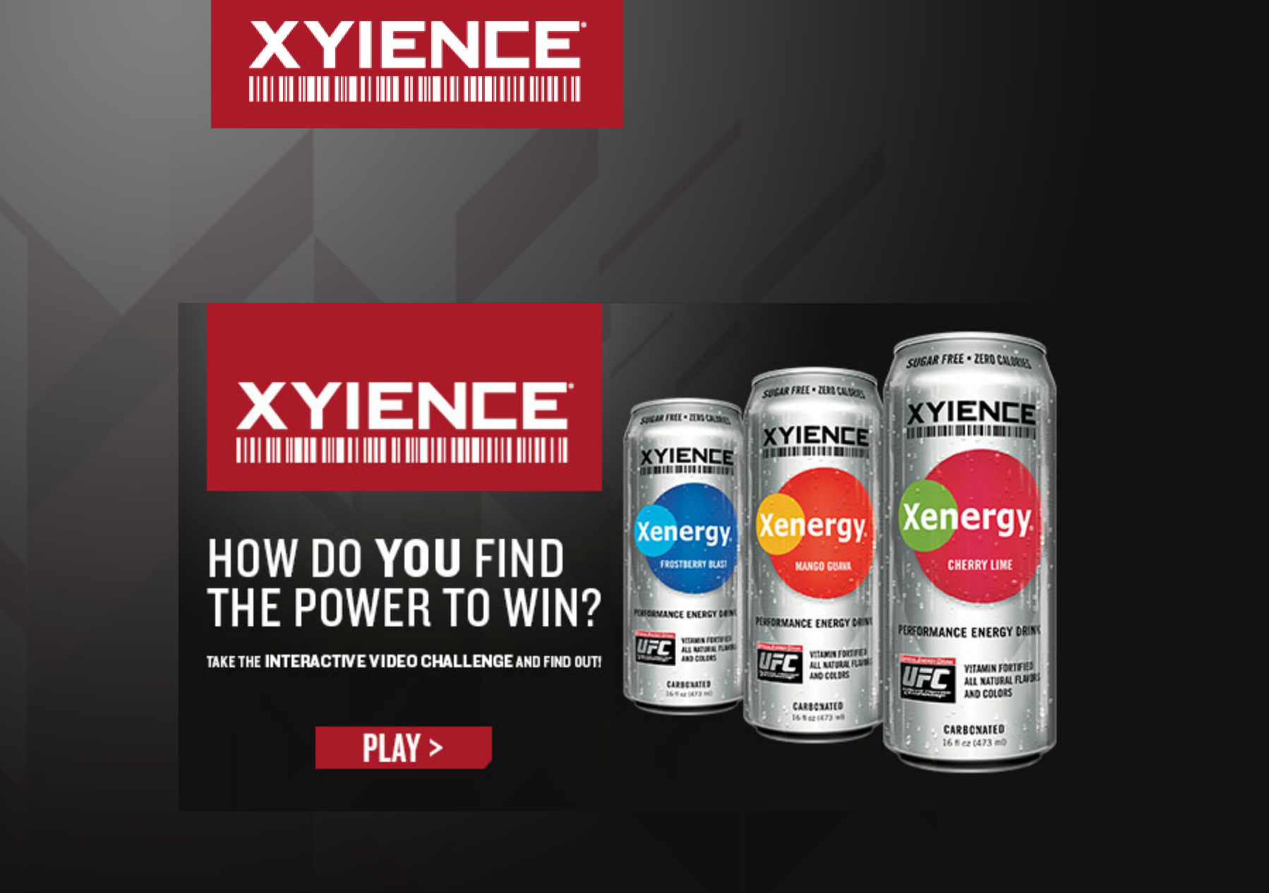 XYIENCE Xenergy Interactive Ad Campaign Tops Industry ...