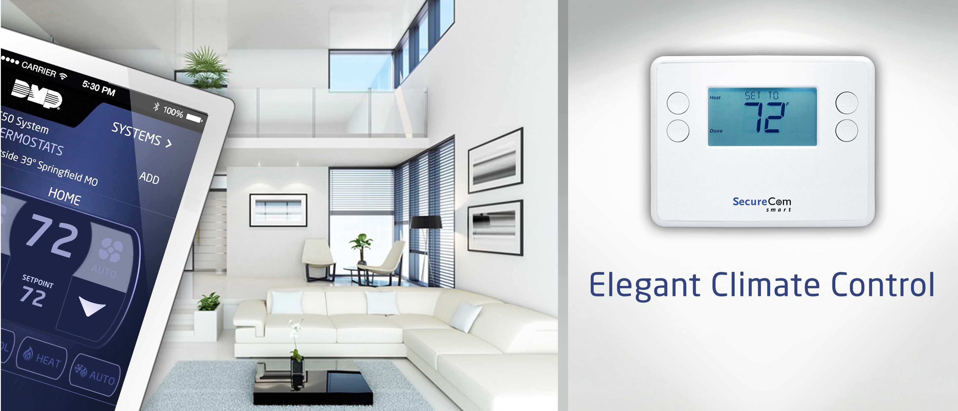 New Securecom Smart Z Wave Thermostat Is Battery Operated