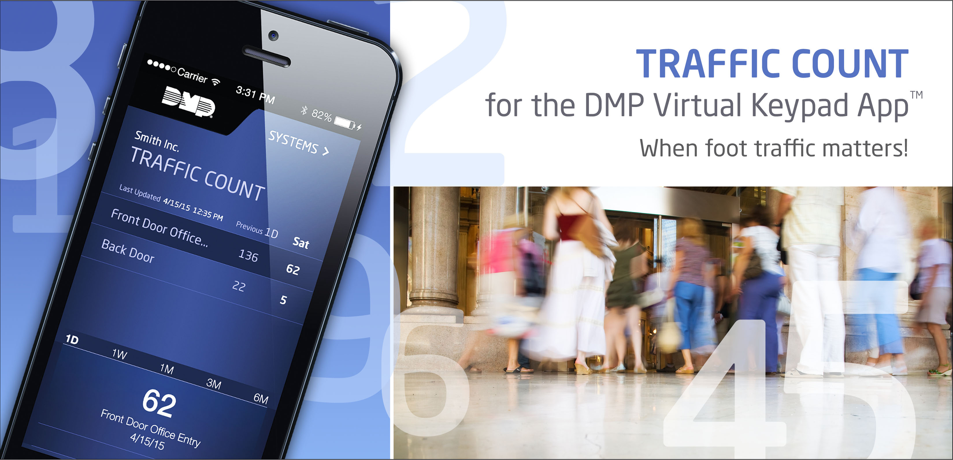 DMP Introduces Traffic Count for the Virtual Keypad™ App